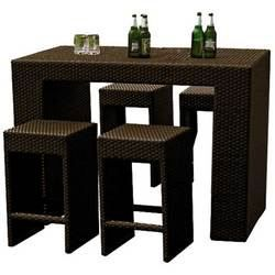mange debout vicky marron 4 achat vente bar de jardin desserte de jardin mange debout. Black Bedroom Furniture Sets. Home Design Ideas