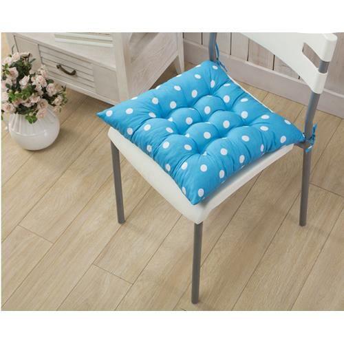1 galettes de chaise coussin de chaise assise matelass e en pois double 40x40cm azur. Black Bedroom Furniture Sets. Home Design Ideas