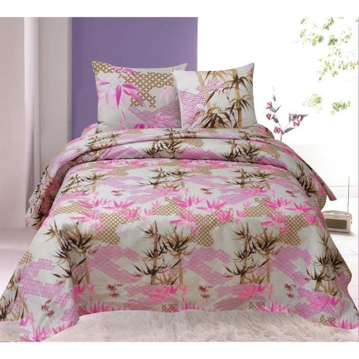 parure de lit 4 pi ces bambous pour lit 2 personnes achat vente parure de drap cadeaux de. Black Bedroom Furniture Sets. Home Design Ideas