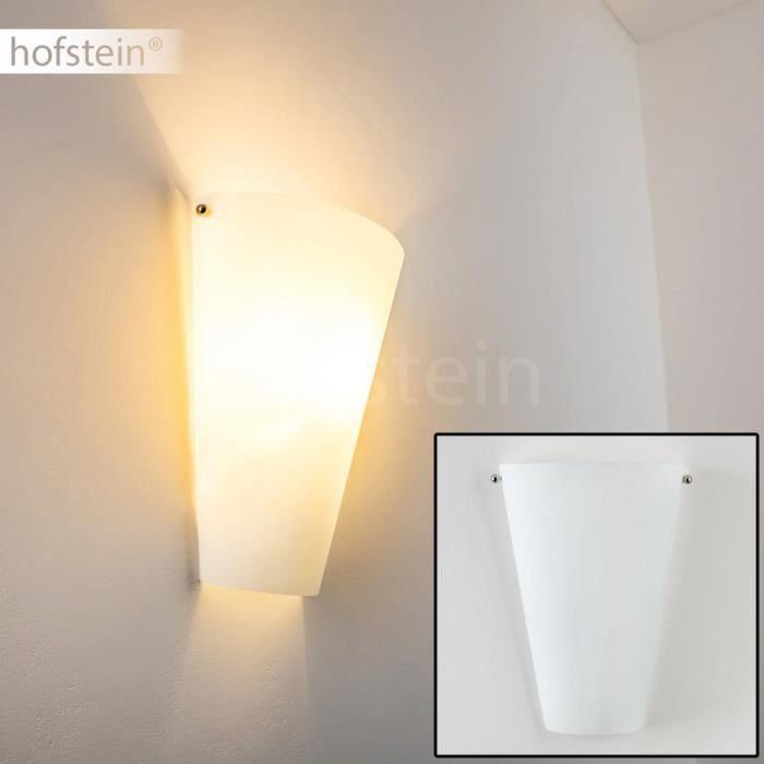 Applique murale lampe de corridor spot verre blanc achat for Applique murale 2 spots
