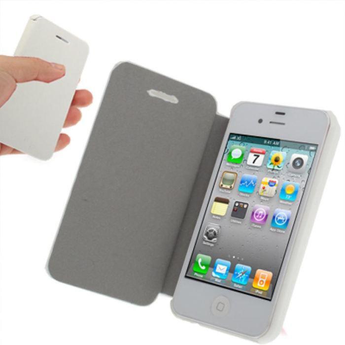 etui iphone 4 book de protection 224 rabat blanc achat housse 233 tui pas cher avis et meilleur