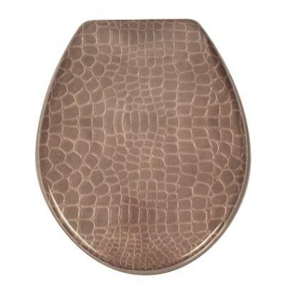 Cuvette de toilette croco couleur marron achat vente abattant wc cdiscount - Cuvette de toilette synonyme ...