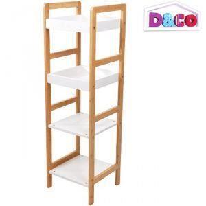 Tag re bambou meuble de rangement 4 niveaux salle achat for Meuble rangement bambou