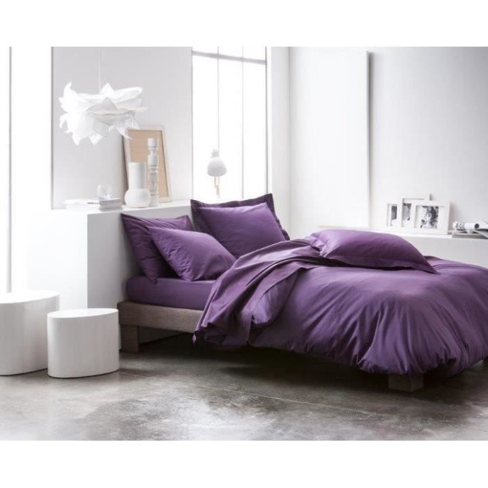 drap plat 240x300 deep purple achat vente drap plat cdiscount. Black Bedroom Furniture Sets. Home Design Ideas