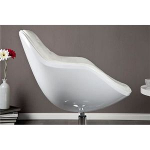 Fauteuil design Speed Capitonné blanc
