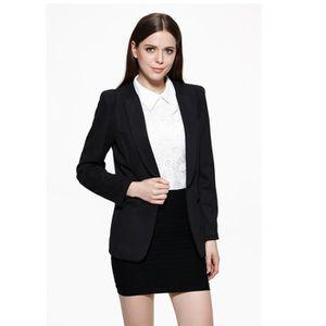 veste tailleur noire femme achat vente veste tailleur. Black Bedroom Furniture Sets. Home Design Ideas