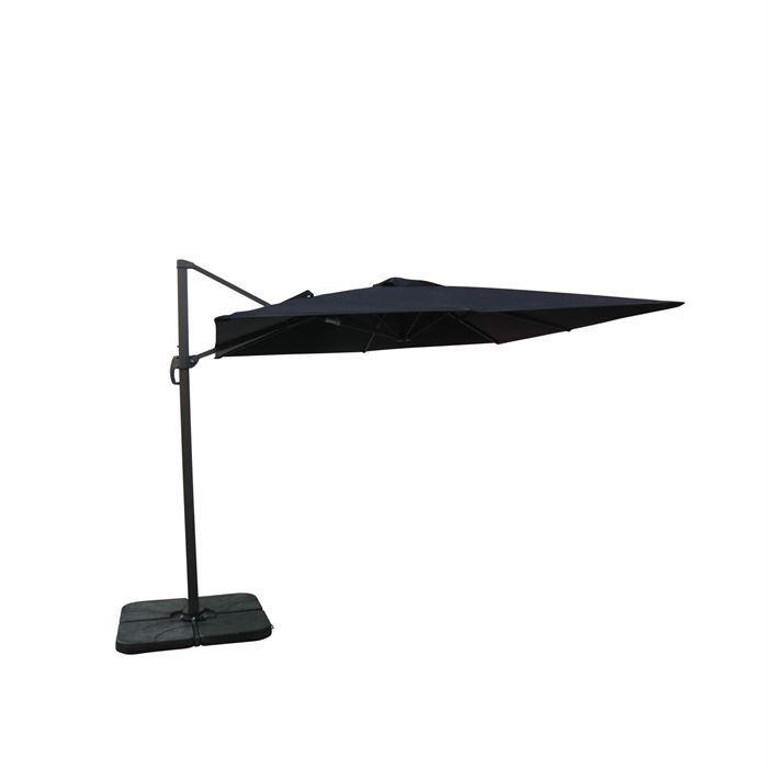 parasol d port carr 3x3m excentr inclinable achat vente parasol ombrage parasol d port. Black Bedroom Furniture Sets. Home Design Ideas