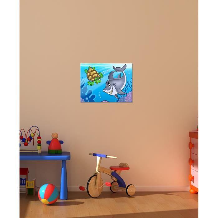 bilderdepot24 toile d co imprim e enfants sous marines animaux 40x30cm achat vente tableau. Black Bedroom Furniture Sets. Home Design Ideas