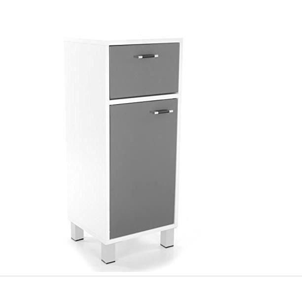 Meuble bas de salle de bain dinamo gris achat vente for Meuble bas salle de bain gris