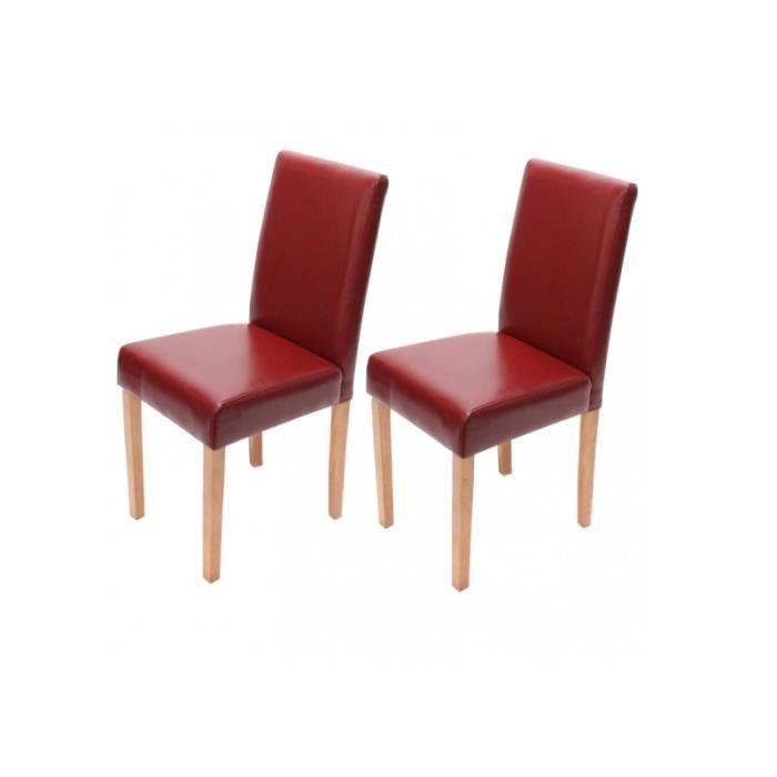 Ensemble de 2 chaises rouge pieds clairs achat vente - Tampon de chaise ...