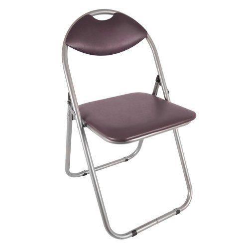 paris chaise pliante en faux cuir et acier brun 43 5 x 46 x 79 5 cm achat vente chaise. Black Bedroom Furniture Sets. Home Design Ideas
