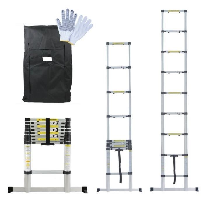 chelle t lescopique 2 60m housse et gants achat. Black Bedroom Furniture Sets. Home Design Ideas