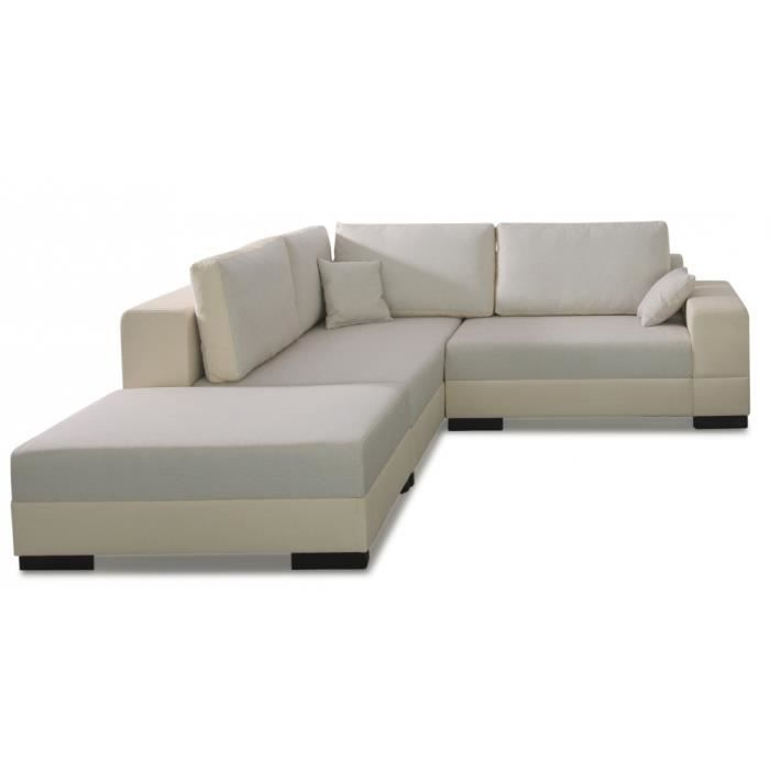 Canap d 39 angle loretto achat vente canap sofa for Cdiscount canape d angle