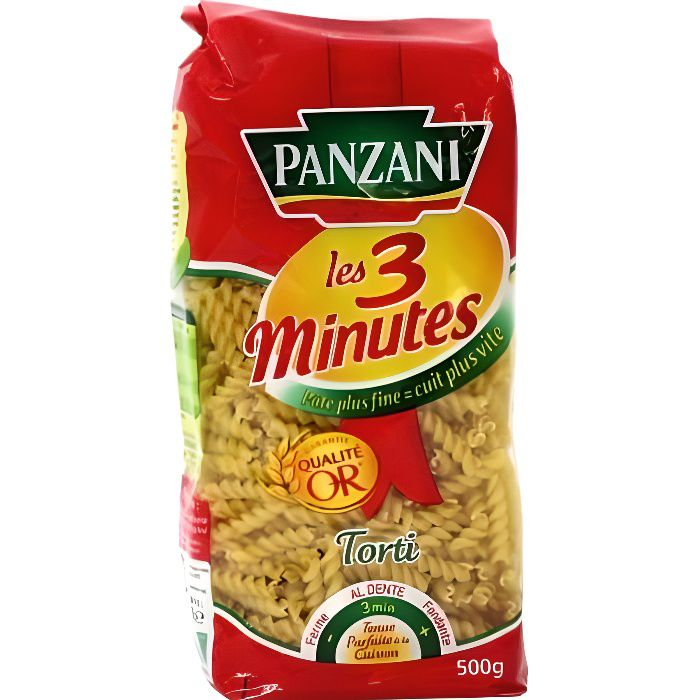 panzani p 226 tes torti 3 minutes cuisson rapide 500g achat vente penne torti autres torti