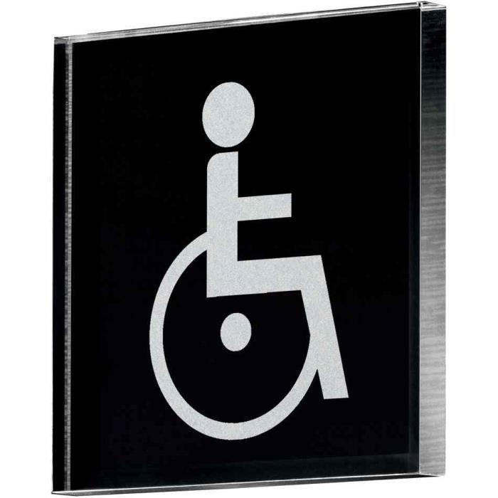 Pictogramme mur porte pictoacrylic wc pour handic achat for Porte wc handicape