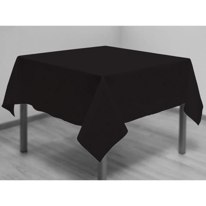 nappe anti t ches carr e 180x180 cm alix noir achat. Black Bedroom Furniture Sets. Home Design Ideas