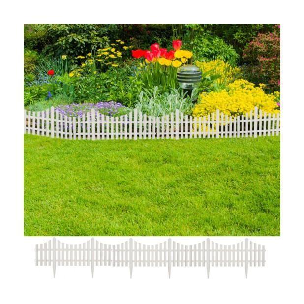 Superbe bordures de jardin blanc17 pi ces 10 m achat vente bordure superbe bordures de - Bordure jardin occasion ...