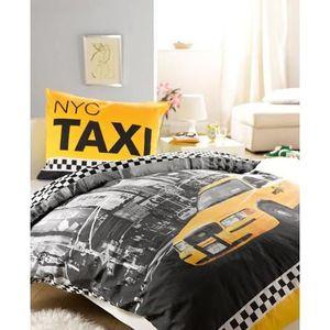 Linge de lit housse de couette taxi new york nyc achat for Deco de chambre new york