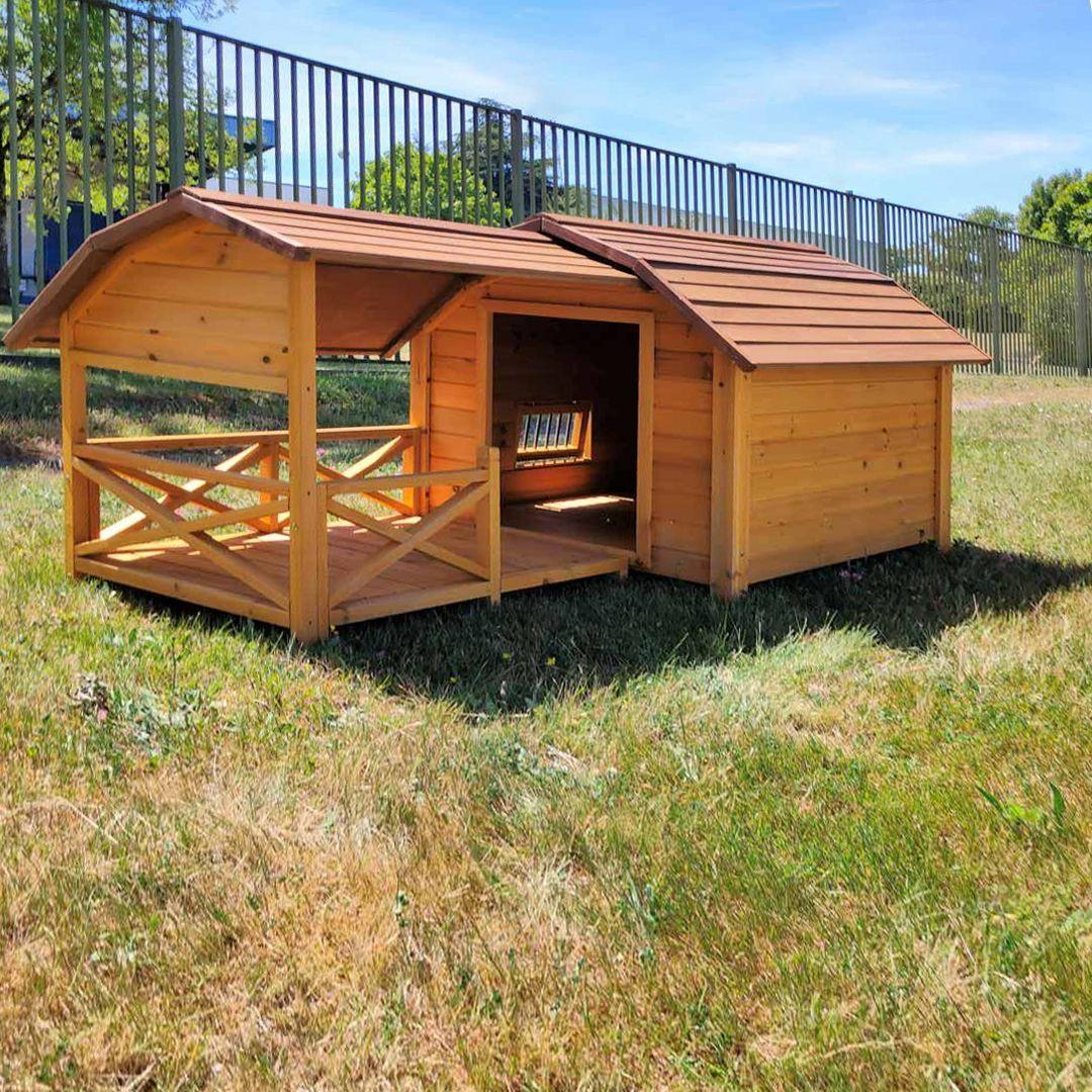 Niche pour chien cheyenne avec terrasse achat vente - Niche pour chien avec palette ...