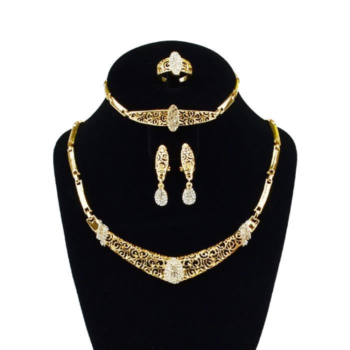 Bro collier bracelet boucle d 39 oreille bague en alliage - Boite a bijoux boucle d oreille ...