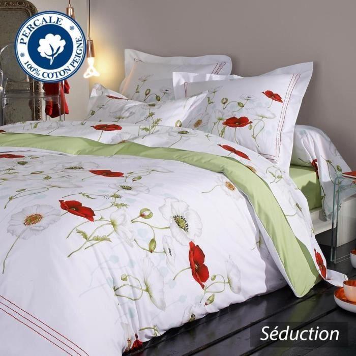 parure de lit 260x240 cm percale pur coton sedu achat vente parure de drap cdiscount. Black Bedroom Furniture Sets. Home Design Ideas