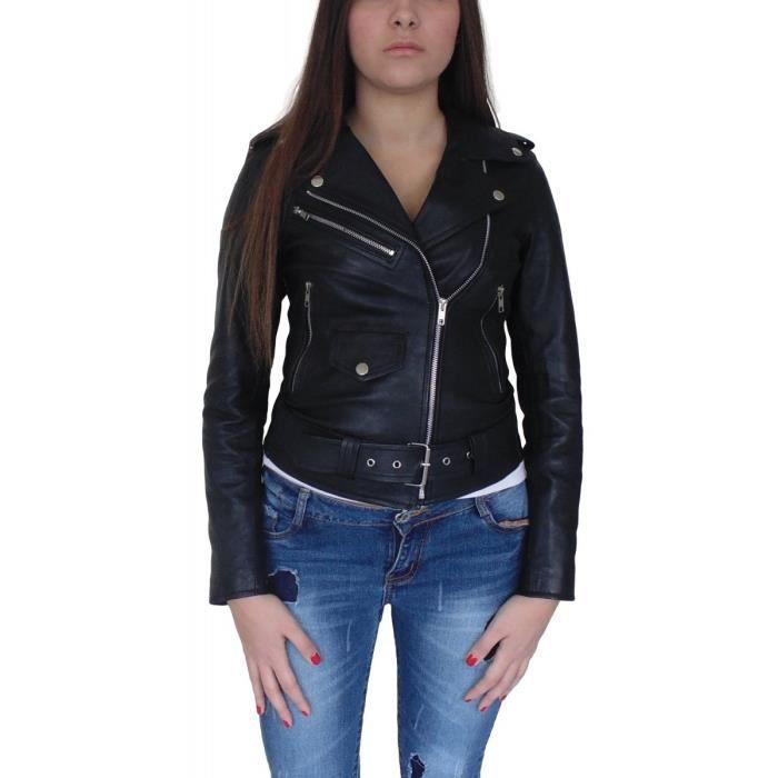 Vestes en cuir pour femme: sophistiquées vous avez dit? Colorées, imprimées, doublées de fausse fourrure ou serties de clous sur l'encolure, les vestes en cuir .