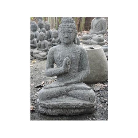 statue jardin exterieur bouddha en pierre natur achat vente statue jardin exterieur bou. Black Bedroom Furniture Sets. Home Design Ideas