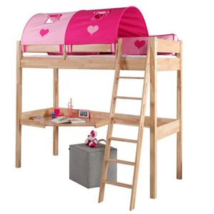 Lit mezzanine bois massif achat vente lit mezzanine - Lit mezzanine en bois pas cher ...