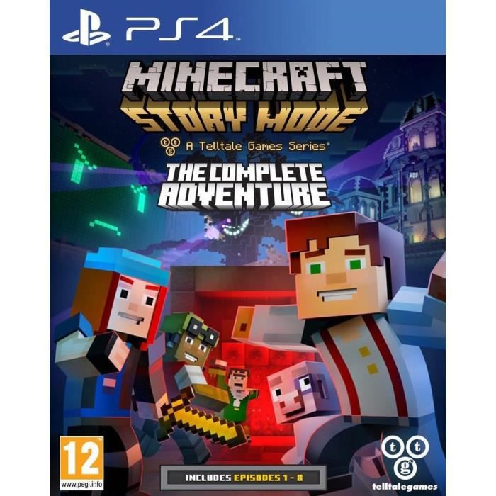 minecraft story mode complete edition jeu ps4 achat vente jeu ps4 minecraft story mode ce. Black Bedroom Furniture Sets. Home Design Ideas