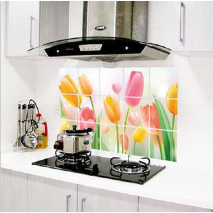 Mod le 7 jj zs005 75 45 cm fleur cuisine stickers for Fourniture cuisine
