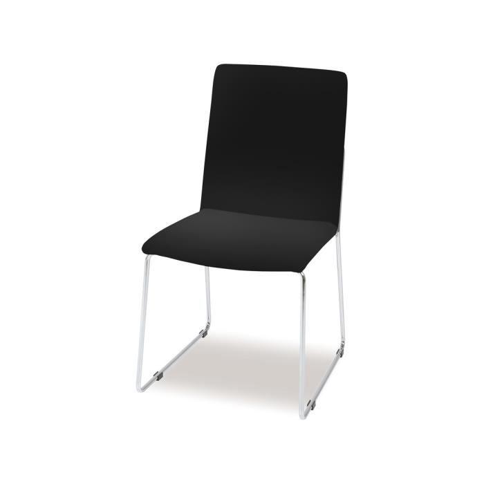 Lot de 4 chaises salle manger kitos en simili cu achat for Lot 4 chaises salle manger