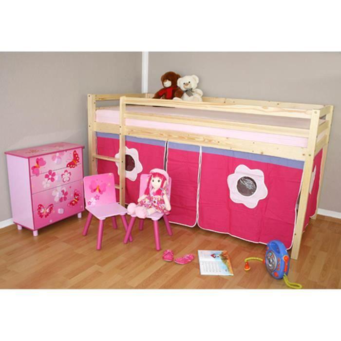 lit enfant superpos mezzanine blanc avec un ri achat. Black Bedroom Furniture Sets. Home Design Ideas
