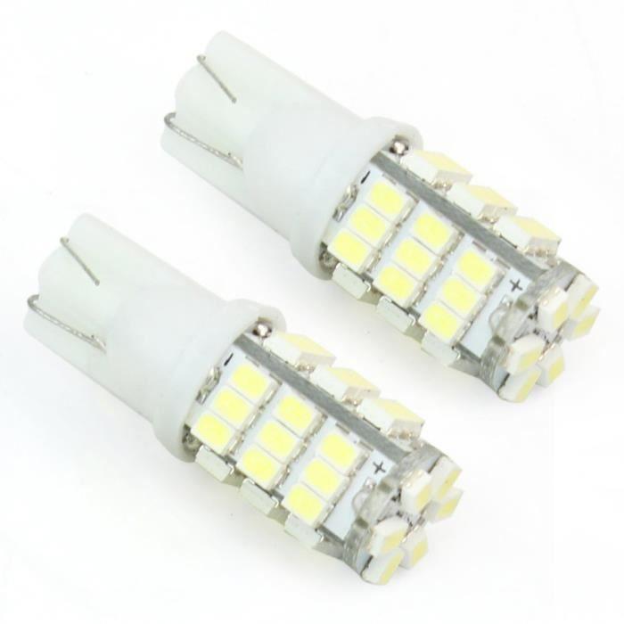 2x t10 ampoule veilleuse 42 smd led blanc pour voiture. Black Bedroom Furniture Sets. Home Design Ideas