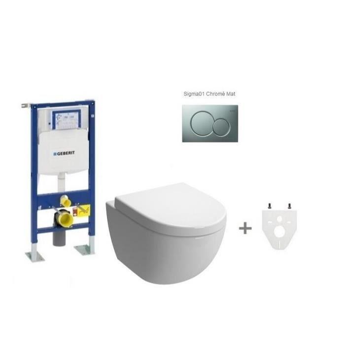 Pack wc suspendu geberit daily 39 o 2 mod le court soft closing frein de ch - Encombrement wc suspendu geberit ...