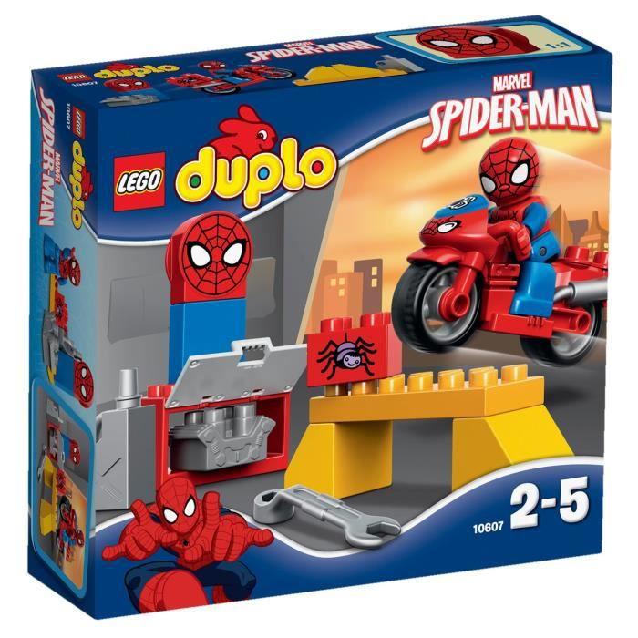 assemblage construction lego duplo 10607 latelier de la moto araigne