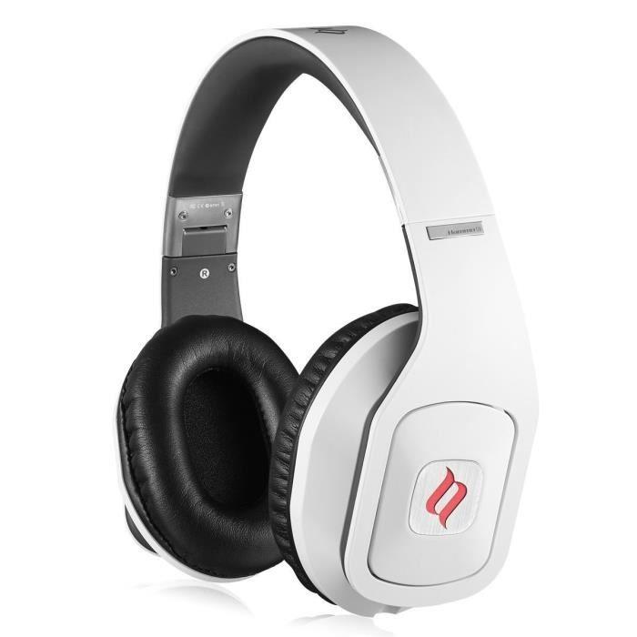 noontec hammo s casque audio blanc casque couteur audio avis et prix pas cher soldes d. Black Bedroom Furniture Sets. Home Design Ideas
