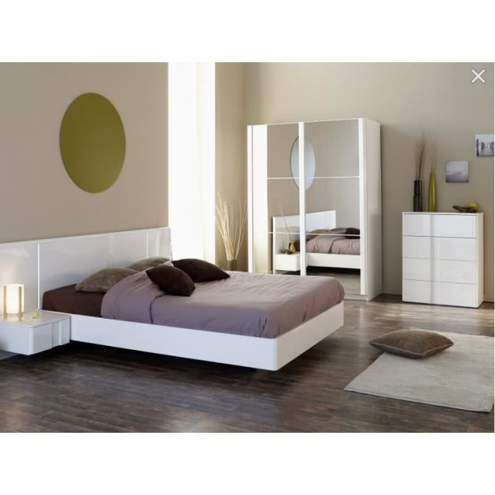Chambre compl te new york lit armoire 2chevet commode for Chambre complete 2 personnes