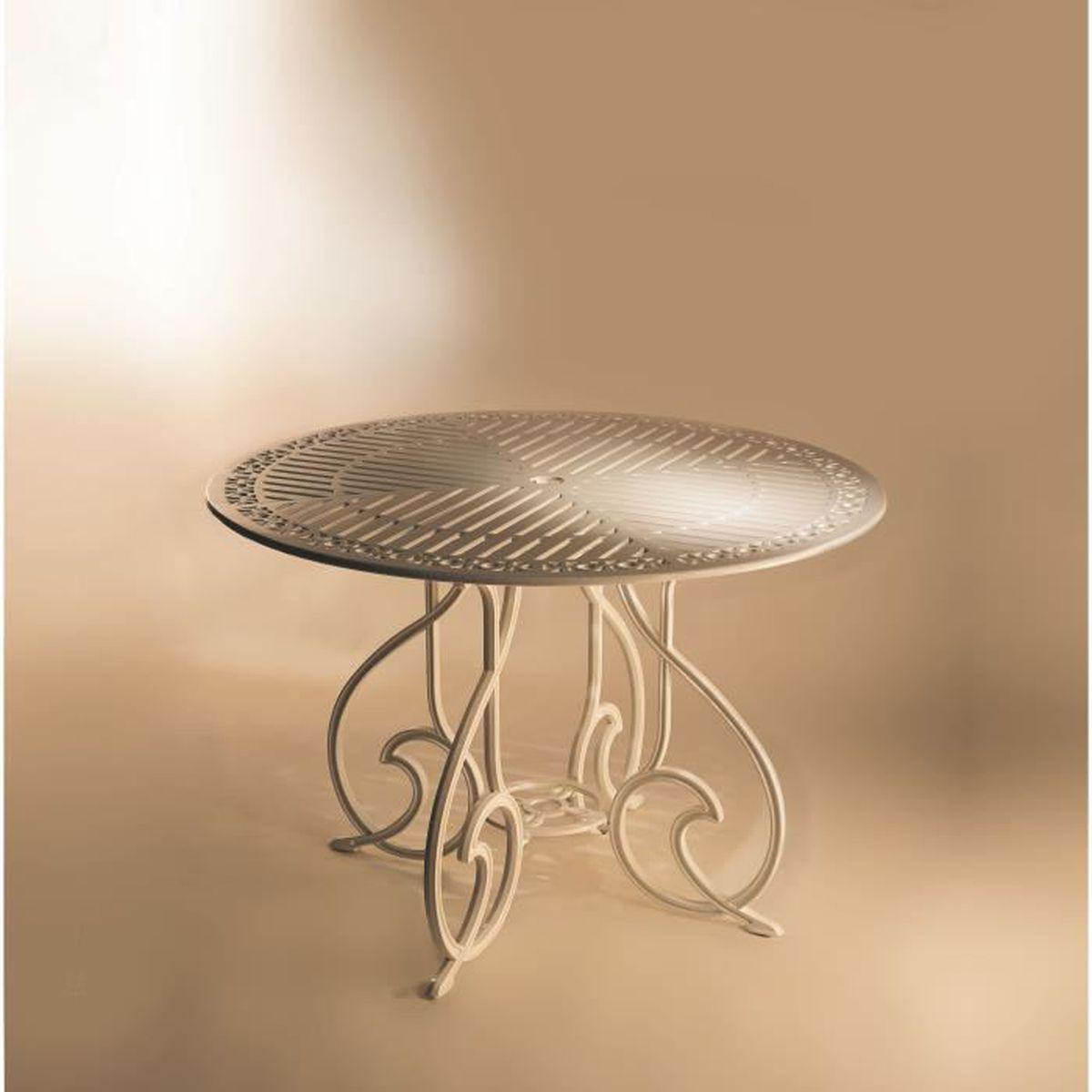 Table ronde de 90cm design classique faite en fonte d for Table ronde 90 cm diametre