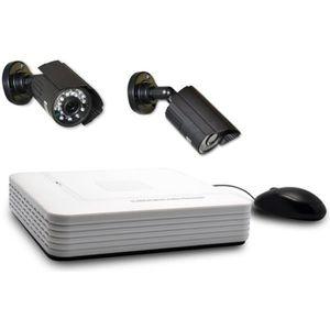 EXTEL Kit de surveillance avec 2 caméras HD et 1 enregistreur vidéo O Vision +