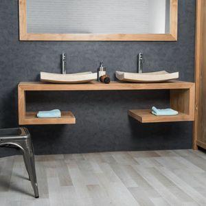 Double vasque 120 cm achat vente double vasque 120 cm - Meuble salle de bain naturel ...