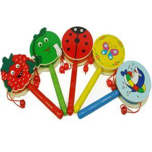 TABLE JOUET D'ACTIVITÉ Cartoon Handbell Bois Hochet Tambour Instrument de