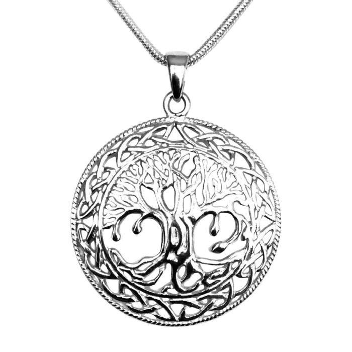 collier argent 925 arbre de vie celtique achat vente sautoir et collier collier argent 925. Black Bedroom Furniture Sets. Home Design Ideas
