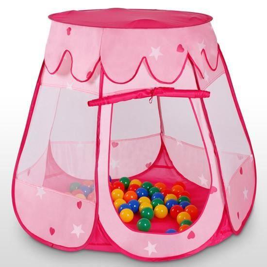 Tente de jeu pour enfants avec 100 balles rose achat for Piscine de balle pour bebe