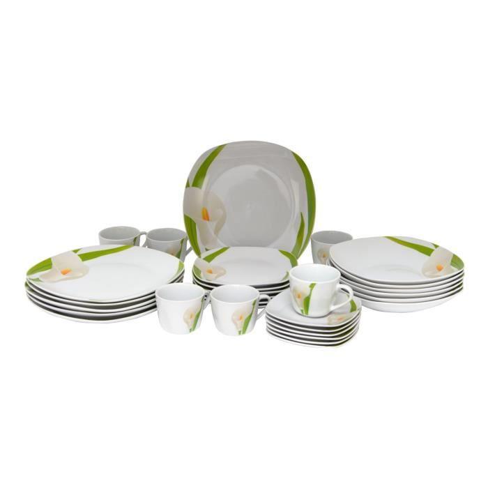 Service De Table Assiette Tasse 30 Pieces 6 Personnes