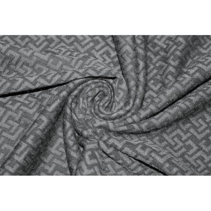 tissu maille milano frapp noir gris au m tre achat vente tissu tissu maille milano frapp. Black Bedroom Furniture Sets. Home Design Ideas
