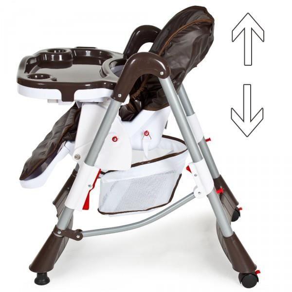 chaise haute pliable b b marron hauteur r glable achat vente chaise haute 2009951947608. Black Bedroom Furniture Sets. Home Design Ideas