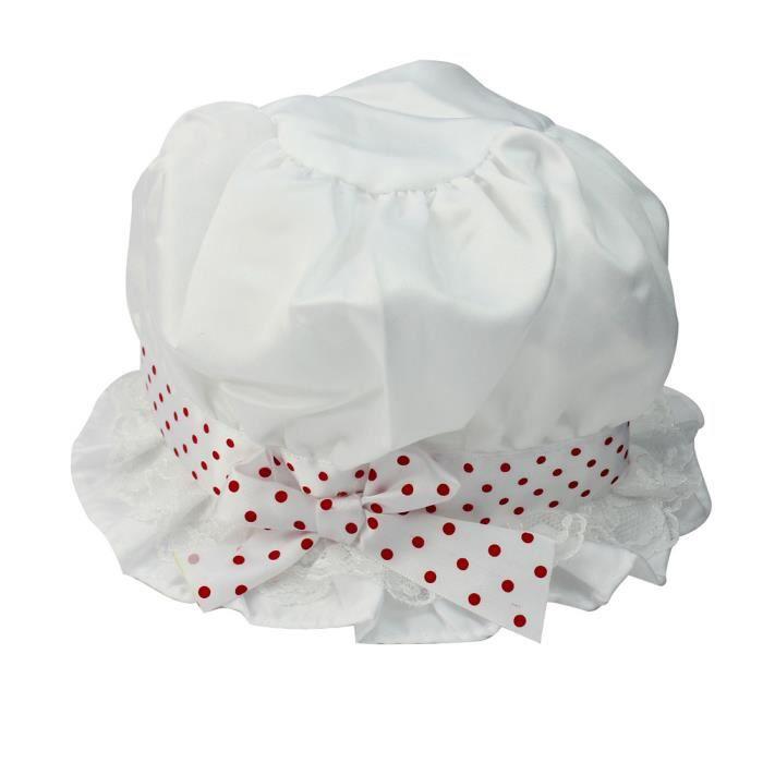 enfant fille b b chapeau de soleil avec n ud papillon lastique motif pois b b fille achat. Black Bedroom Furniture Sets. Home Design Ideas