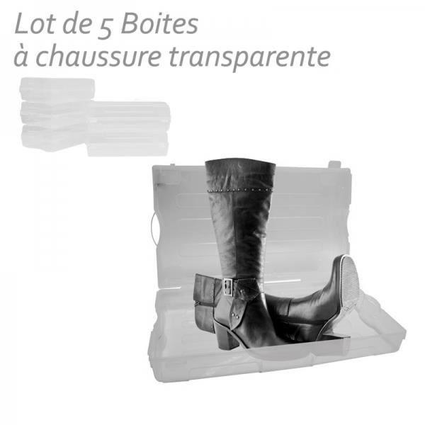 Boite a chaussures bottes femme en plastique lo achat - Botte plastique femme ...