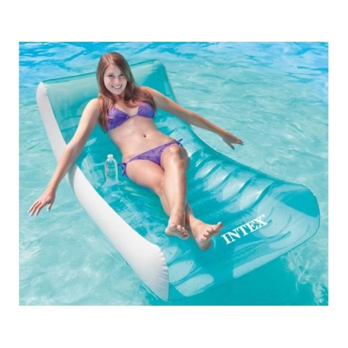 Fauteuil rocking lounge gonflable intex achat vente for Soldes piscine intex