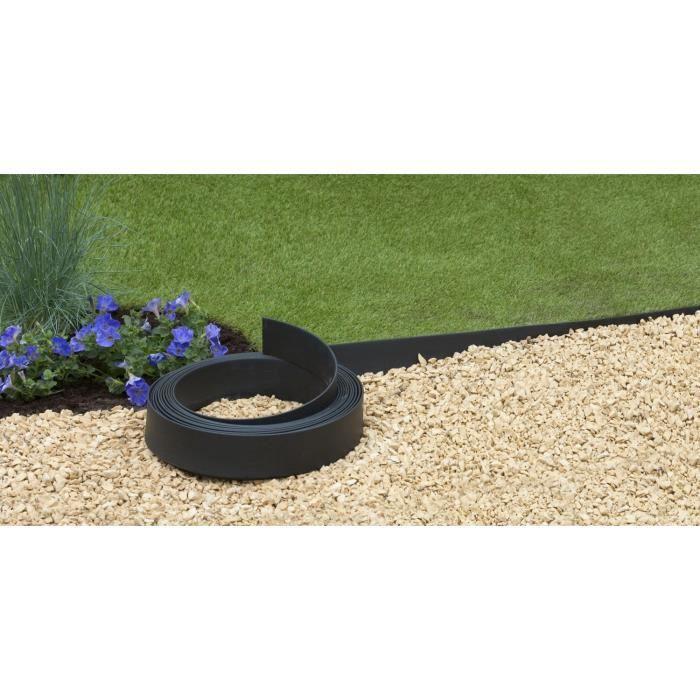 Bordure pro polyur thane noir h9cm x 15m achat vente bordure bordure pro noir h9cm x for Bordure jardin fait maison